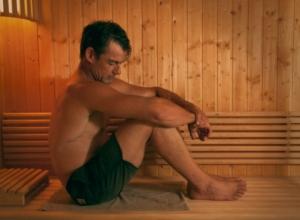 guy in sauna